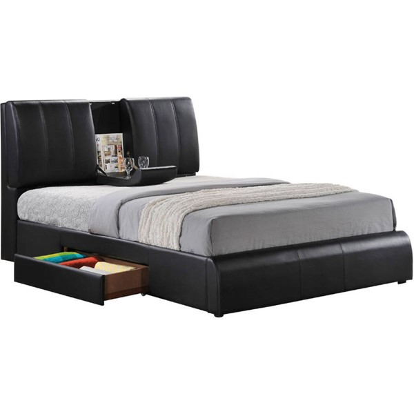 Acme Furniture Kofi Black Queen Storage Bed ACM-21270Q