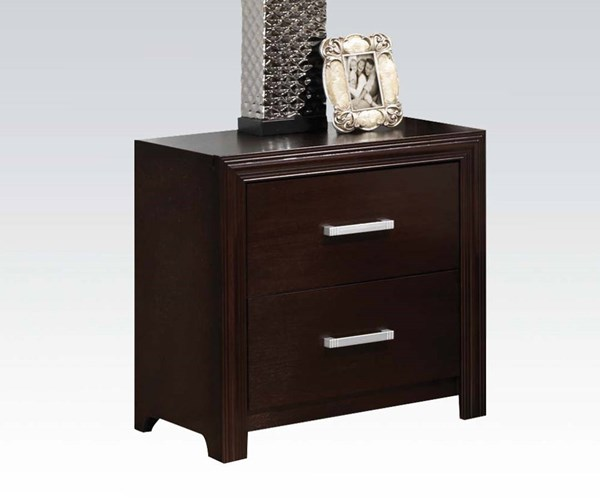 Ajay Contemporary Espresso Wood Nightstand ACM-21433