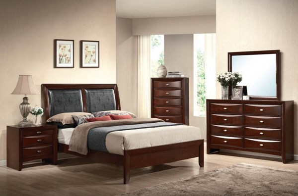 Ireland Traditional Espresso PU Wood 2pc Bedroom Set W/Cal King Bed ACM-21444-S1