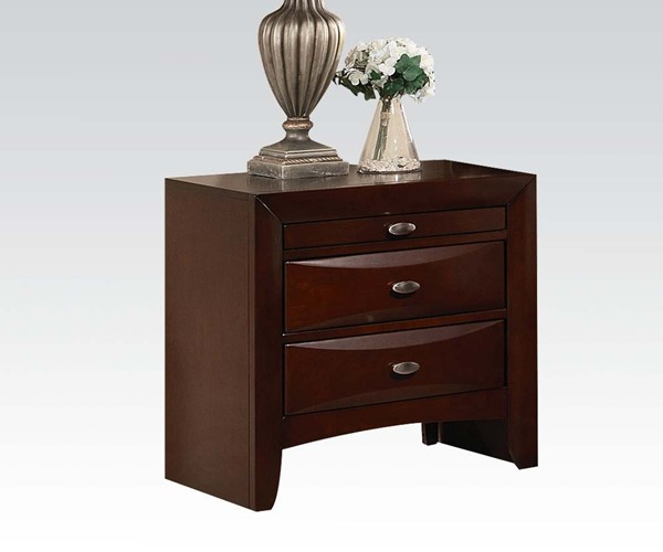 Ireland Transitional Espresso Wood Nightstand ACM-21453