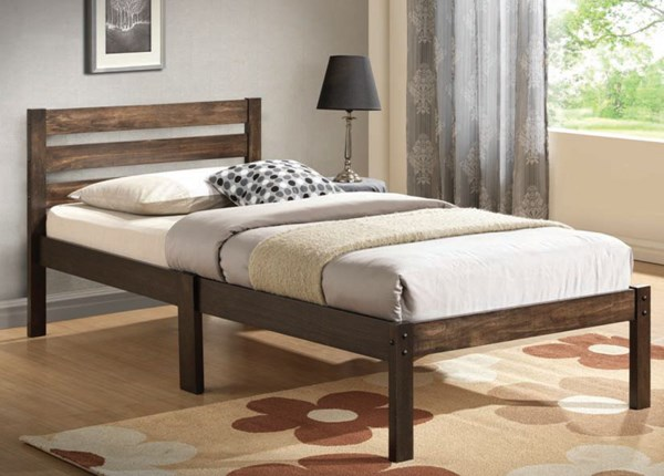 Donato Youth Ash Brown Wood Twin Panel Beds ACM-21520-BEDS-VAR