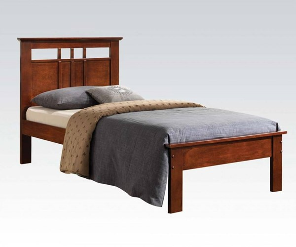 Donato Youth Cappuccino Wood Twin Panel Bed ACM-21522T