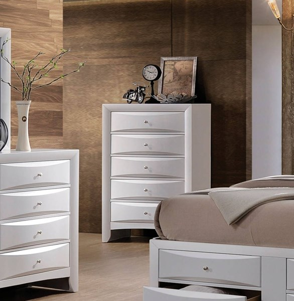 Ireland Transitional White Wood Chest ACM-21707