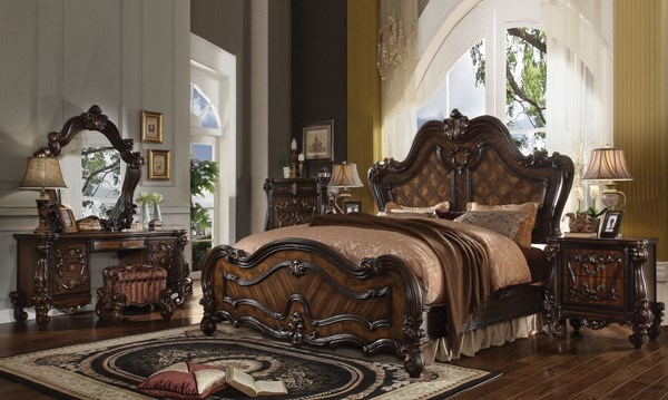 Versailles Cherry Oak Wood 2pc Bedroom Set W/Cal King Bed ACM-21760-BR-S6