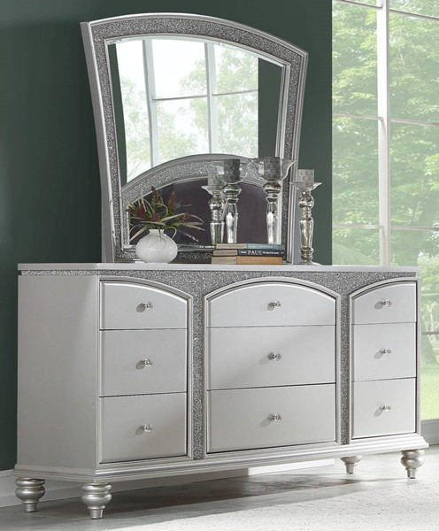 Acme Furniture Maverick Platinum Dresser and Mirror ACM-2180-DRMR