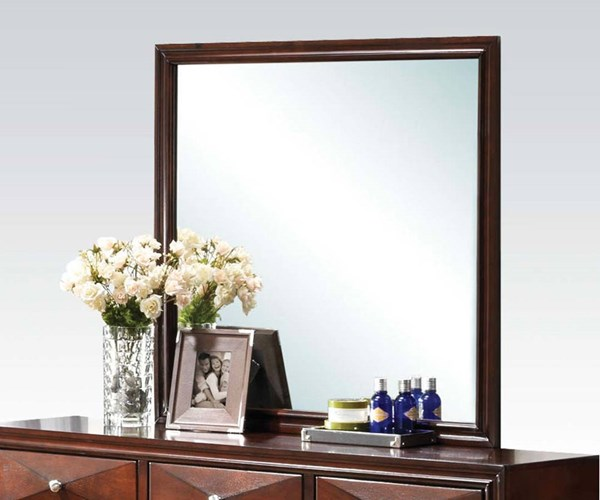 Windsor Contemporary Merlot Wood Glass Mirror ACM-21924