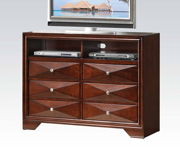 Windsor Contemporary Merlot Wood TV Console ACM-21927