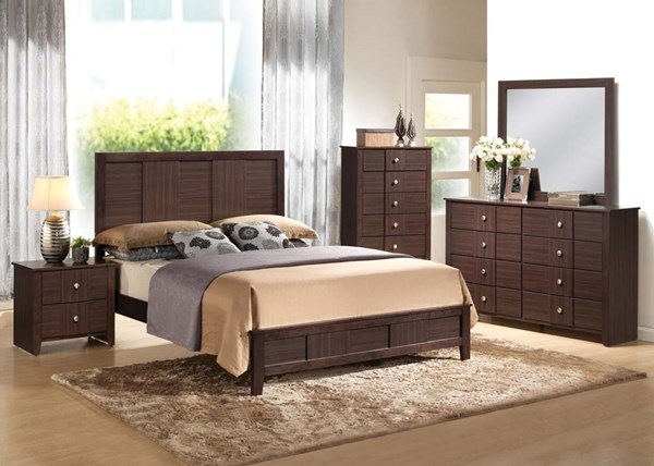 Racie Transitional Merlot Wood 2pc Bedroom Set W/Queen Bed ACM-21940Q-S1