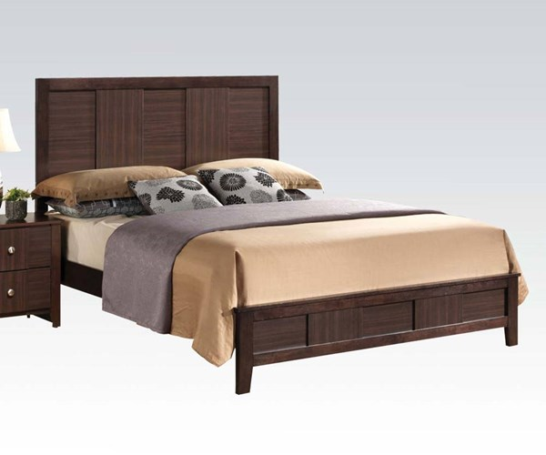Racie Transitional Merlot Wood Queen Bed ACM-21940Q