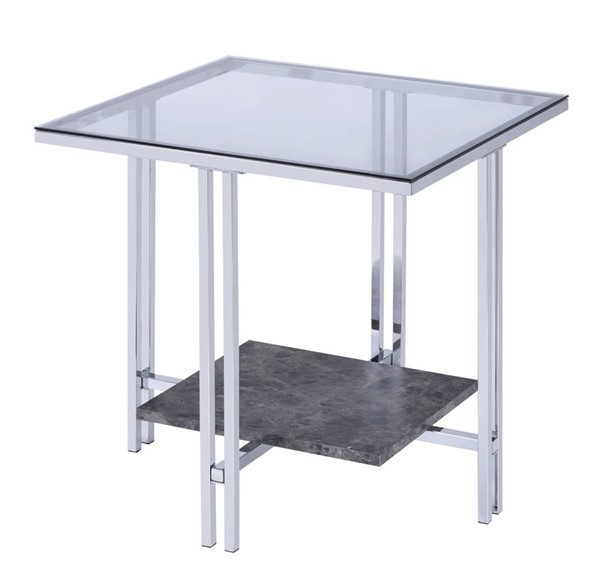 Acme Furniture Liddell Chrome End Table ACM-83927