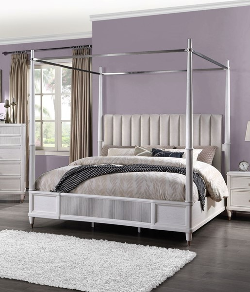 Acme Furniture Celestia Off White Queen Canopy Bed ACM-22120Q