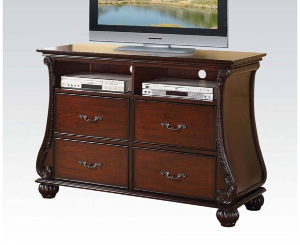 Abramson Traditional Cherry Wood 4 Drawers TV Console ACM-22369