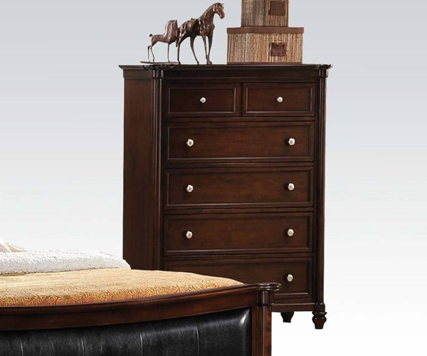 Amaryllis Traditional Cherry Wood 6 Drawers Chest ACM-22386