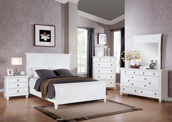 Merivale Cottage White Wood 5pc Bedroom Set W/King Bed ACM-22417EK-S1
