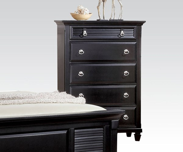 Merivale Cottage Black Wood 5 Drawers Chests ACM-22446-CHEST-VAR