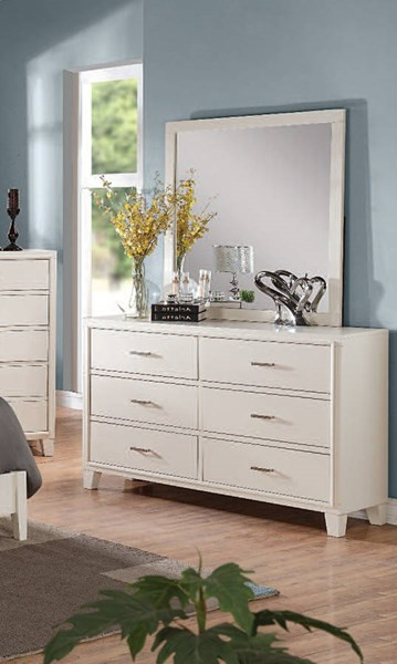 Tyler Contemporary White Wood 6 Drawers Dresser ACM-22545