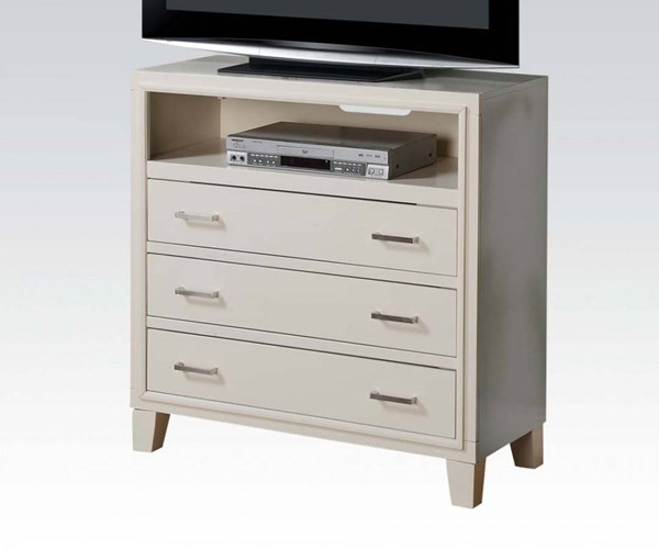 Tyler Contemporary White Wood 3 Drawers TV Console ACM-22547