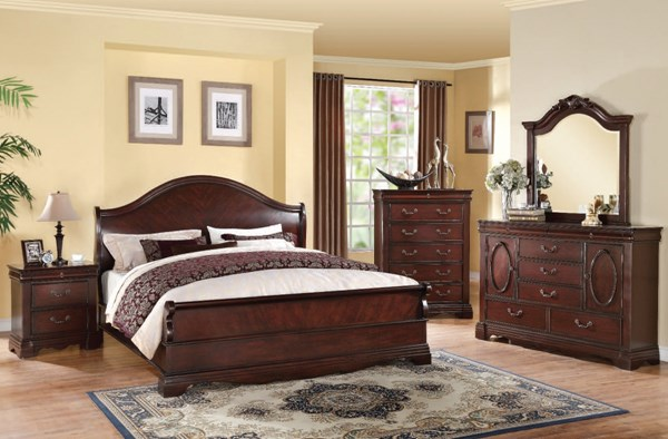 Beverly Dark Cherry Wood 2pc Bedrom Sets ACM-22724-BR-S
