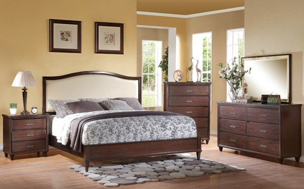 Raleigh Cream Cherry PU Wood 2pc Bedroom Sets ACM-2281-82-BR-S