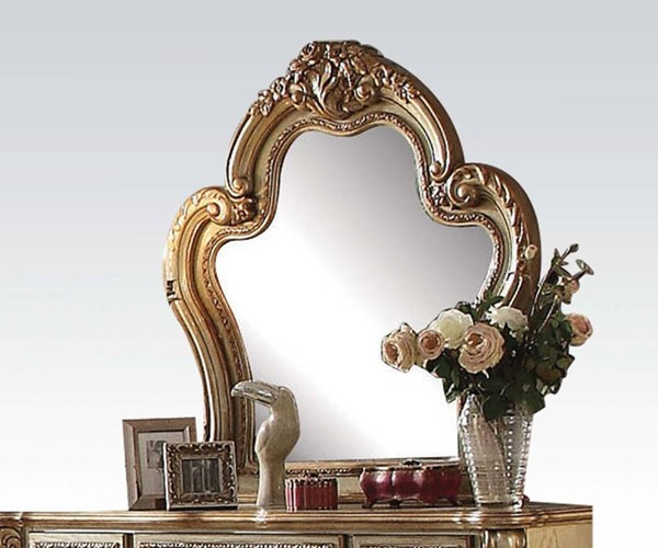 Dresden Classic Gold Patina Wood Glass Mirror ACM-23164