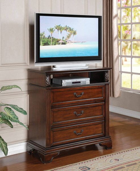 Roman Empire III Traditional Walnut Wood TV Console ACM-23350