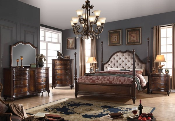 Acme Furniture Azis Dark Walnut Master Bedroom Set ACM-2377-BR