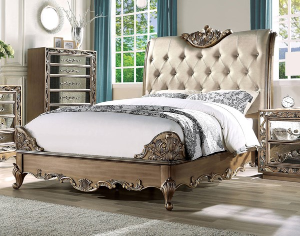 Acme Furniture Orianne Antique Gold King Bed ACM-23787EK