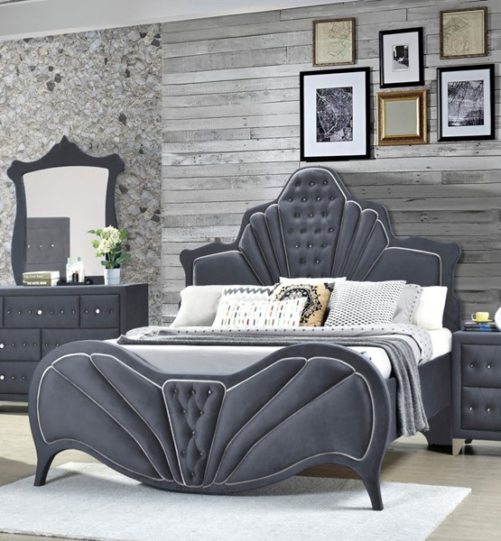 Acme Furniture Dante Gray Queen Bed ACM-24230Q