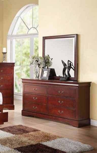 Acme Furniture Louis Philippe Iii Cherry Dresser And