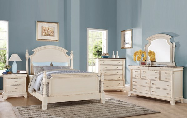 Tahira Transitional Ivory Wood 2pc Bedroom Set W/King Bed ACM-24414-BR-S2