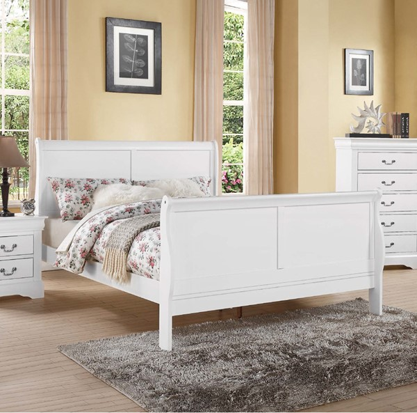 Acme Furniture Louis Philippe III White Full Bed ACM-24510F