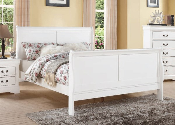 Louis Philippe III Casual White Wood Twin Bed ACM-24515T