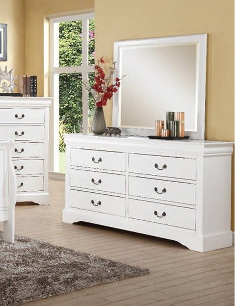 Louis Philippe III Traditional White Wood Dresser ACM-24505