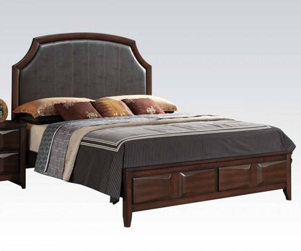 Lancaster Modern Espresso PU Wood King Bed ACM-24567EK