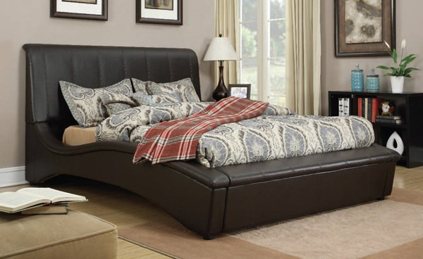 Matthew Espresso Wood PU Upholstered Queen Bed ACM-24630Q