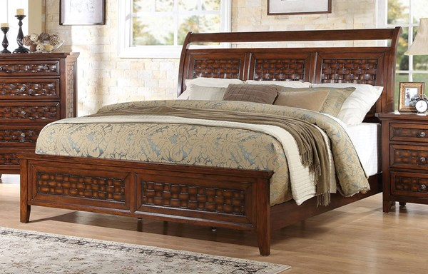Carmela Traditional Walnut Wood Beds ACM-2477-BEDS-VAR