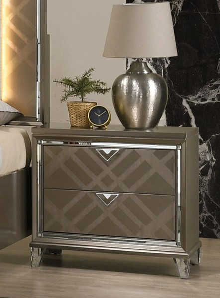 Acme Furniture Skylar Dark Champagne Nightstand ACM-25323