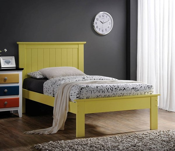 Prentiss Yellow Wood Full Bed w/Panel Headboard ACM-25423F