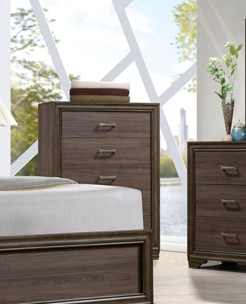 Cyrille Contemporary Walnut Solid Wood Melamine Paper Chest ACM-25856