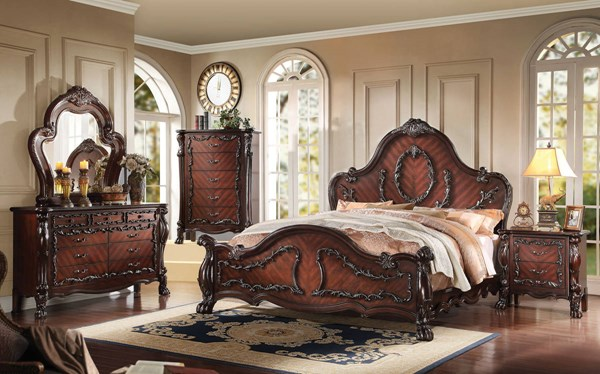 Westerland Classic Dark Cherry Wood Master Bedroom Set ACM-26004-BR