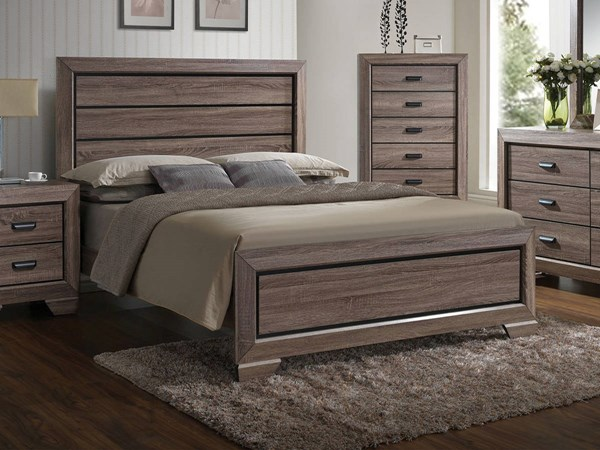 Lyndon Rustic Weathered Gray Wood Queen Bed ACM-26020Q