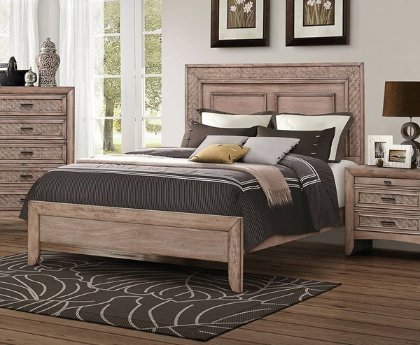 Ireton Transitional Caramel Wood Low Profile Footboard Beds ACM-2602-BEDS-VAR