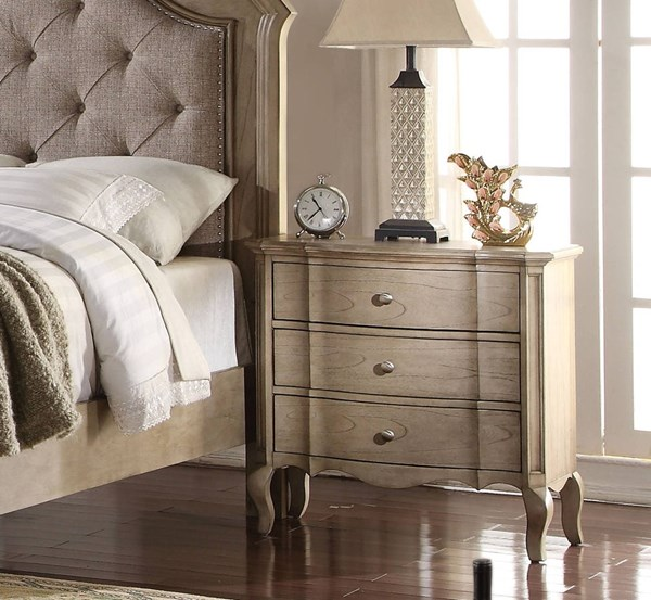 Chelmsford Antique Taupe Rubberwood Nightstand ACM-26053