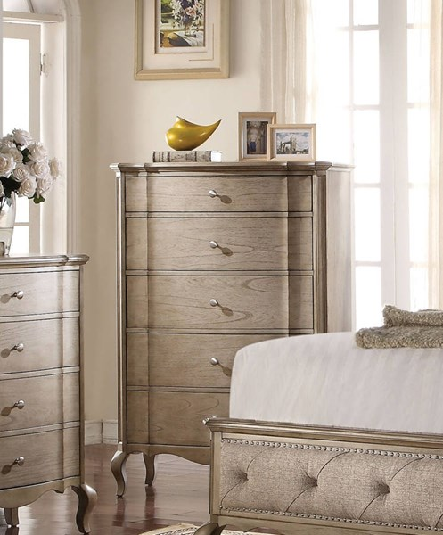 Chelmsford Antique Taupe Rubberwood Chest ACM-26056