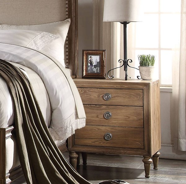 Inverness / Parker Traditional Reclaimed Oak Wood Nightstand ACM-26093