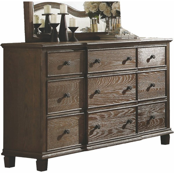 Acme Furniture Baudouin Weathered Oak Dresser ACM-26115