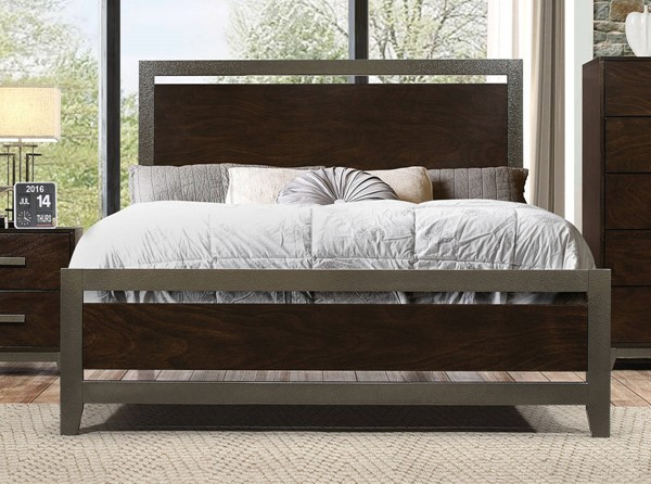 Acme Furniture Charleen Walnut Queen Bed ACM-26680Q
