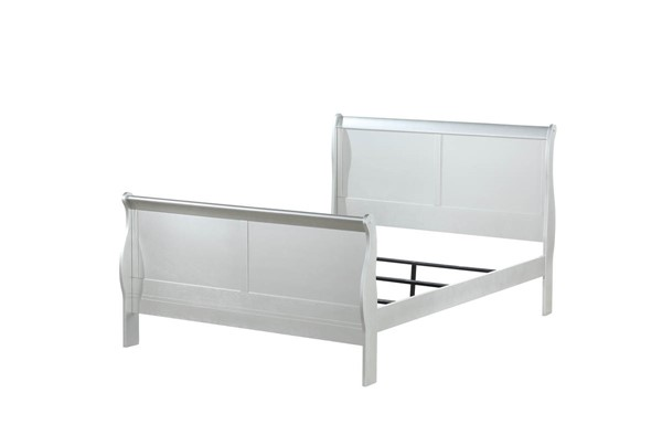 Acme Furniture Louis Philippe III Platinum King Bed ACM-26697EK