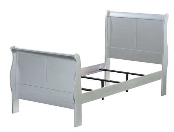 Acme Furniture Louis Philippe III Platinum Twin Bed ACM-26710T
