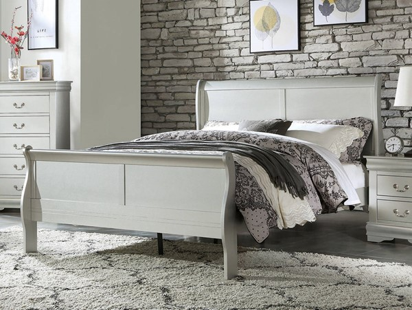 Acme Furniture Louis Philippe Platinum Twin Bed ACM-26740T